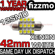 12 SMD LED 264 41mm 42mm Blanco Luz Domo Interior Patente Bombilla FESTOON