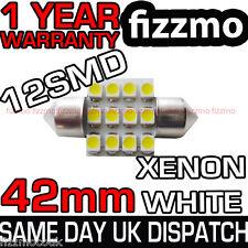 12 LED SMD 264 41mm 42mm BIANCO TARGA INTERNO TESTATA LAMPADINA A SILURO GB