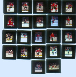 28-  2 x 2 Slides  of  Misc Teams Chi, Ott, Sharks & caps 1980's & early 1990's