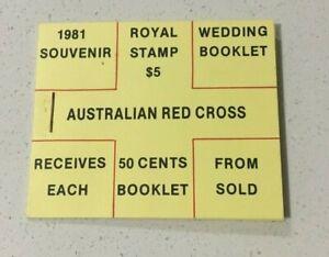 MAD738) Australia 1981 Royal Wedding Souvenir Red Cross Stamp Booklet MUH