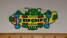 VTG 80's SANTA CRUZ RIP GRIP THREE EYED MONSTER RARE SKATEBOARD NOS STICKER sma