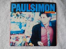 """Paul Simon """"Allergies/Think Too Much (b)"""" Picture Sleeve 45 RPM Record"""
