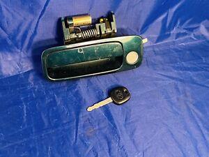 OEM Toyota Camry Solara Coupe Left Door Handle w/ Factory Key Lock Dark Green
