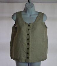 Patagonia Beige Sleeveless Button Front Blouse Women's Sz S