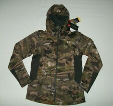 UNDER ARMOUR Forest CAMO Early Season Hooded HUNTING JACKET Womens Sz MEDIUM NEW