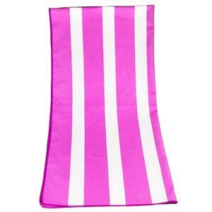 Quick Drying Microfibre Lightweight Travel Towel 180cm x 80cm, Pink/White Stripe