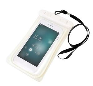Waterproof Underwater Case Dry Pouch for Mobile Phone Glow - WHITE