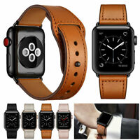 Genuine Leather Band Strap For Apple Watch 6 5 4 3 SE iWatch 40/44/38/42mm Band