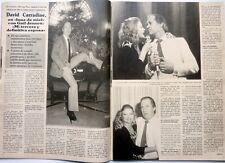 DAVID CARRADINE => 2 pages 1987 Spanish CLIPPING !!! COUPURE DE PRESSE