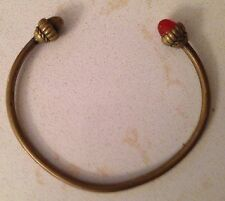 MATSUDA Vintage  Antique brass Bracelet ( M or W ) with Amber colored resin