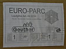 Laufgitter Euro-Parc groß, natur, sterne Geuther (LGS33)