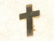 7/8 inch Goldtone Simple Cross Brooch