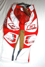 "ONeal Hardwear USA BICI DA CORSA BMX Motocross Pantaloni Rosso Bianco 28, 30"" Gamba"