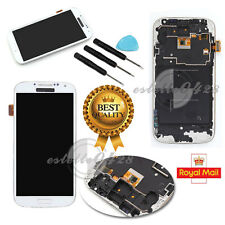 For Samsung Galaxy S4 GT-i9505 LCD Display Touch Screen Digitizer White + Frame