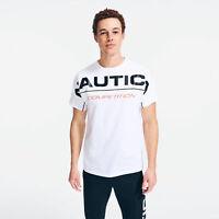 Men's Nautica White Competition Logo Graphic T-Shirt