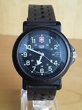 SWISS ARMY Black Military Diver CHRONOGRAPH Silicone Date Watch Hunting Glow WOW