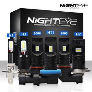 NIGHTEYE H1/H11/H3/H7/9006 160W CSP LED Nebel Scheinwerfer Birnen Kit Lampen DE