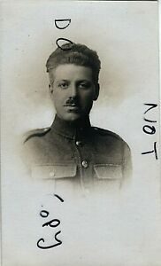WW1 soldier Private R B Corbett Unknown regiment August 1919 Reading photo