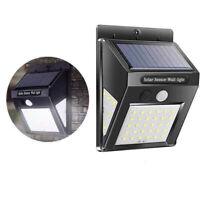 30/40LED Solar Powered PIR Motion Sensor Wall Security Light Garden Outdoor Lamp