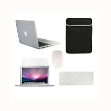 "5in1 Rubberized CLEAR Case for Macbook PRO 13"" +Keyboard Cover + LCD+ Bag +Mouse"