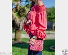 🌺 VERA BRADLEY Sparkle Crossbody PIXIE BLOOMS Bag Tote Purse Evening $58