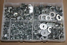 Assorted Box of Flat Washers - Met Light (M5-M12. BZP) Form A BZP Qty 1000
