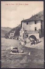 COMO NESSO 02 ORRIDO - LAGO DI COMO - BARCA Cartolina 1906