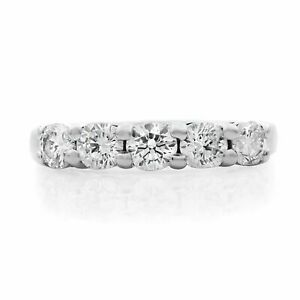 Rachel Koen 950 Platinum 1.00cttw 5 G VS2 Round Diamonds Wedding Ring Sz6