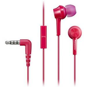 Panasonic RP-TCM115 In-Ear Headphones w/Mic and Remote 9mm Assorted Colors