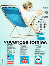 PUBLICITE ADVERTISING 026  1964  Vacances totales transat Lafuma campng gaz coco