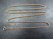 VINTAGE 9ct GOLD PRINCE OF WALES LINK NECKLACE CHAIN 16 inch C.1990