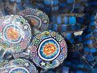 NEW 100 pieces Polymer Clay Pendants 25 mm Disc Sun Moon Marijuana Yin Yang