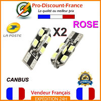 2 x ampoule LED T10 W5W Rose Canbus Anti Erreur Ampoules Voiture 5W Tuning
