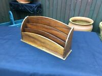 antique edwardian large desk letter stationary rack