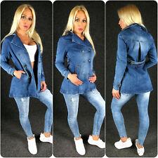 Zazou Jeansjacke Jeansmantel S M L XL XXL Damen Jeans Jacke Mantel Jacket MC278