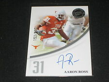 AARON ROSS TEXAS ROOKIE FOOTBALL LEGEND SIGNED AUTOGRAPHED CARD RARE /200