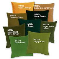 Mf Green Olive Orange Microfiber Velvet Cushion Cover/Pillow Case Custom Size