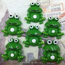 DIY 4pcs Frog 30X28MM Flatback Resin Cabochon Scrapbooking/Crafts