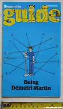 Used Guardian The Guide Magazine-15th October 2011- Demetri Martin cover.