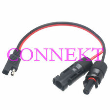 SAE Flat Plug 2pin to MC4 Male & Female Solar Panel Cable Adapter
