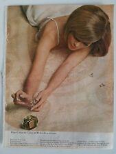 1964 crepe-de-chine perfume bottle woman lingerie color AD