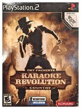 Karaoke Revolution Country INCLUDES Microphone (PS2, 2006) New Sealed In Box