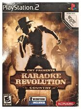 Karaoke Revolution Country INCLUDES MICROPHONE (PS2, 2006) NEW SEALED BOX