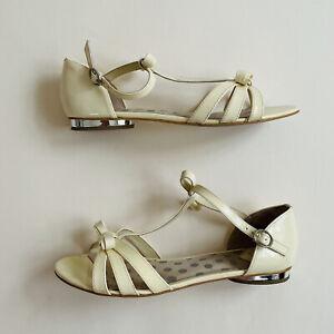Alannah Hill 'Swinging On A Star Sandal' Cream Flat Shoes Size Au 8 Eu 39