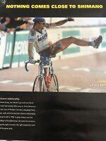 "Bike Poster ORIGINAL Rare Wall Art Man Cave 27""  x 20"" Vtg Johan Museeuw Shimano"
