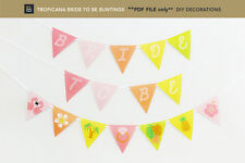 Tropical Hens Night Banner, Tropical Party Decorations **PDF FILE only**