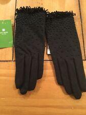 Kate Spade Women's Black Beaded Gloves N30 20