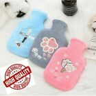 350 ML Hot Water Bottle Colorful Plush Cover Winter Warming Hand Warmer