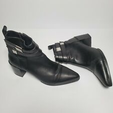 Forever 21 Black Pointed Toe Ankle Booties Size 9
