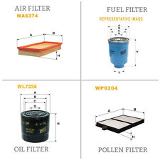 WIX AIR POLLEN OIL & FUEL Filter Service Kit WA6374,WP9204,WL7235,WF8218